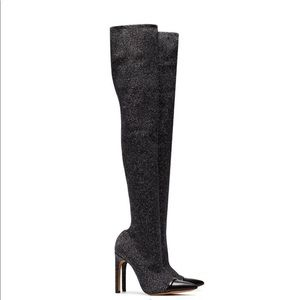 NWOB Givenchy Lurex Knit Over The Knee Boots